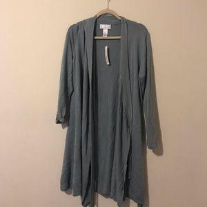 Soft Surroundings Silk/Cashmere Knit Cardigan